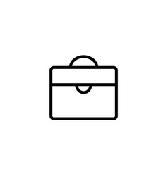 thin line briefcase icon vector image