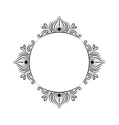 vintage round classic contour frame vector image vector image