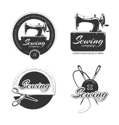 Vintage tailor labels emblems and logo set vector image