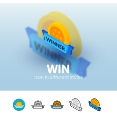 Win icon in different style vector image