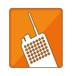 police radio icon image design vector image