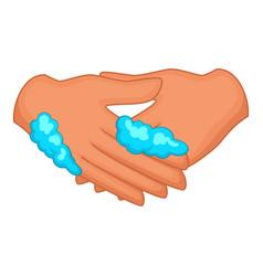 washing hands icon cartoon style vector image