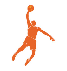 Isolated basketball player vector