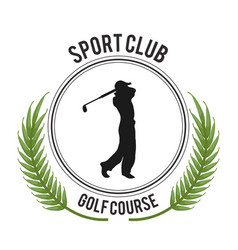 Sport club golf course player vector