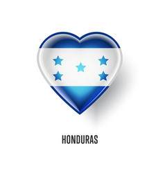 Patriotic heart symbol with honduras flag vector
