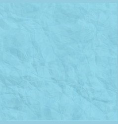 texture of blue crumpled paper background vector image