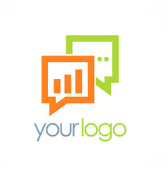 Business chat talk logo vector