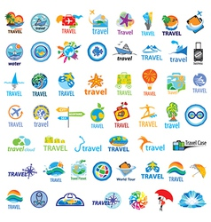 Biggest collection of logos travel vector