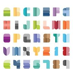 Alphabet set type font paper colour style vector
