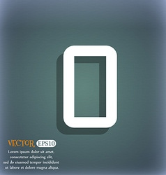 Number zero icon sign on the blue-green abstract vector