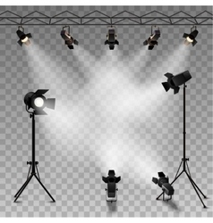 Spotlights transparent background vector
