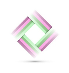 colored rectangle symbol vector image
