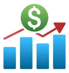 Business chart gradient icon vector