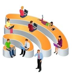 Public free wi-fi hotspot zone wireless connection vector