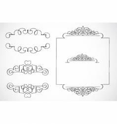ornament pieces vector image