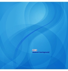 Eps10 wave background in blue tones vector