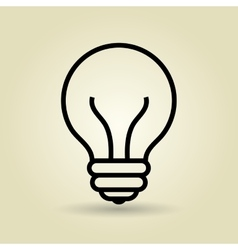 Light bulb isolated icon design vector