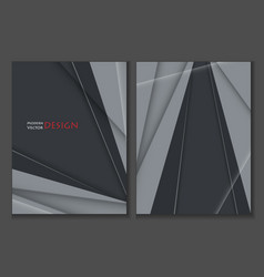 brochures templates set vector image