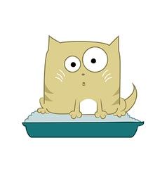 Cat in toilet vector