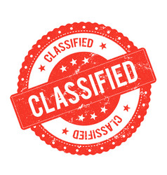 classified file seal certificate vector image