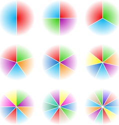 Collection of nine cyclic vector image vector image