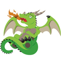 Cute baby dragon vector