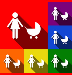 family sign set of icons vector image