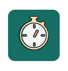 Flat color stopwatch icon vector