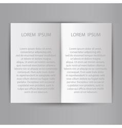 Folded sheet of paper blank brochure template vector