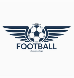 football or soccer ball with wings vector image vector image