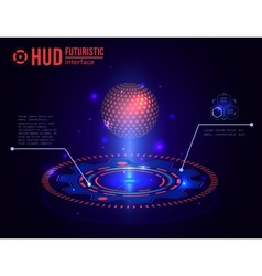 Futuristic HUD interface elements Virtual touch vector image