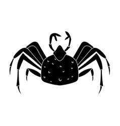 King crab icon in black style isolated on white vector
