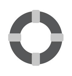 Lifebuoy - gray icon vector