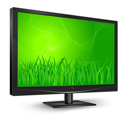 monitor green grass vector image