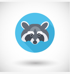raccoon icon vector image vector image