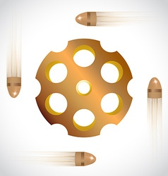 Revolver drum vector