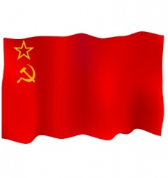 ussr flag vector image vector image