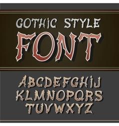 Vintage label font retro style vector