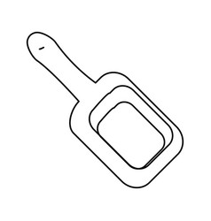 Wooden spatula for massage vector