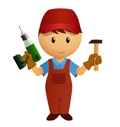 worker drill vector image