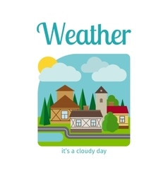 Cloudy day in town vector