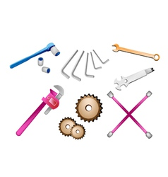 A set of auto repair tools kits vector