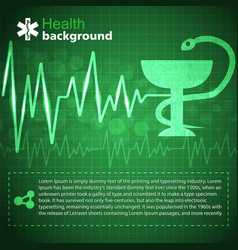 Medical green background vector