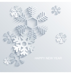 Modern snowflakes background vector