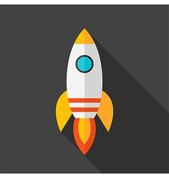 Flat stylized rocket vector