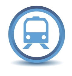 Blue train icon vector