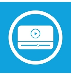 Mediaplayer sign icon vector