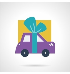 Car with bow flat icon vector