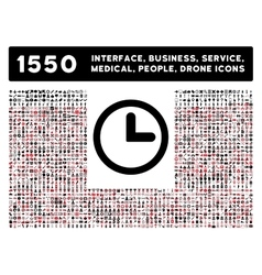 Clock icon and more interface business tools vector