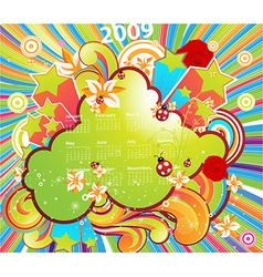 Fresh summer 2009 calendar vector